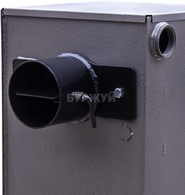Котел твердотопливный Буржуй К-15 кВт дымоход назад (4 мм). Фото 10
