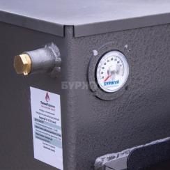 Котел твердотопливный Буржуй К-15 кВт дымоход назад (4 мм). Фото 8