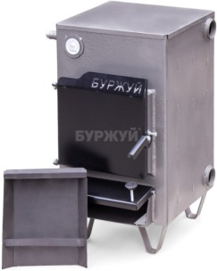 Котел твердотопливный Буржуй К-15 кВт дымоход назад (4 мм). Фото 6