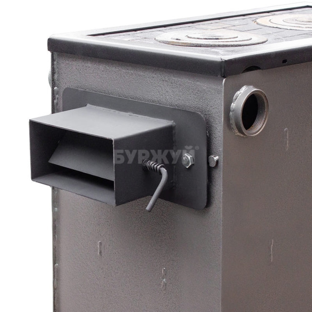 Котел-плита Буржуй КП-18 кВт димохід назад (4 мм). Фото 13