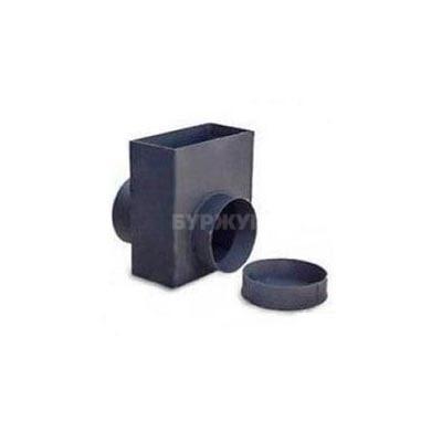 Переходник Буржуй с прямоугольного дымохода 100*200 мм на круглый 150 мм