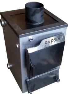 Котел твердотопливный Буржуй К-12 кВт дымоход вверх (3 мм)