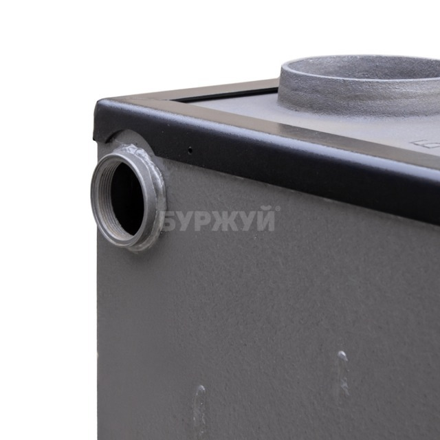 Котел-плита Буржуй КП-10 кВт димохід вверх (4 мм). Фото 4