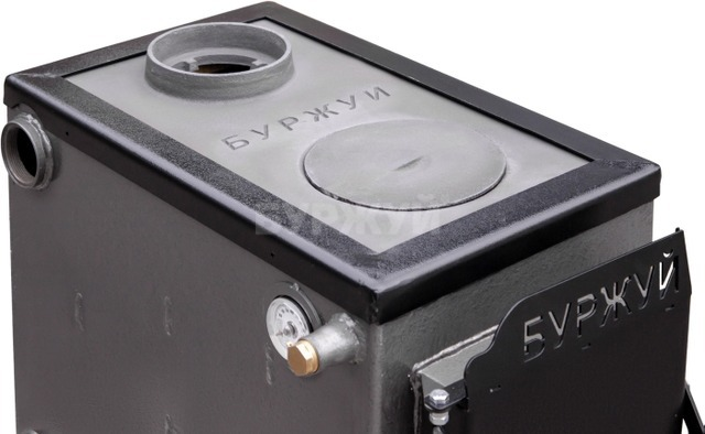 Котел-плита Буржуй КП-10 кВт димохід вверх (4 мм). Фото 2