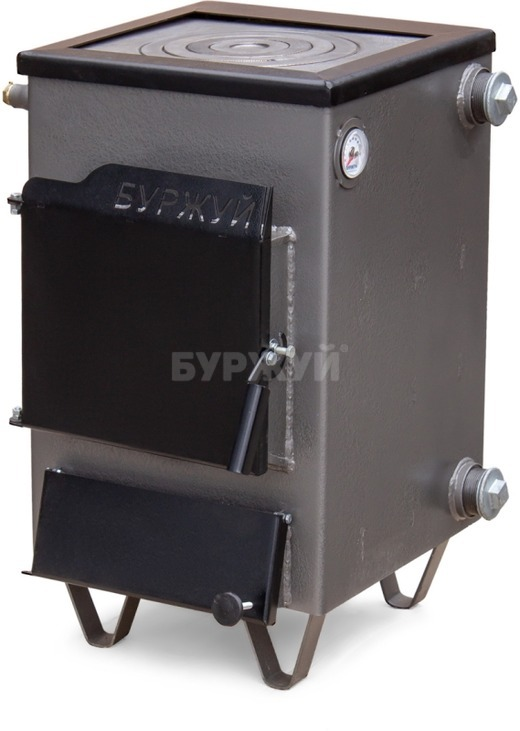 Котел-плита Буржуй КП-12 кВт дымоход назад (4 мм)