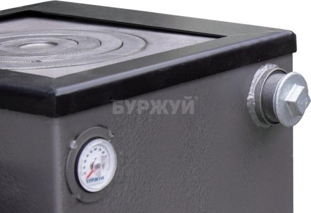 Котел-плита Буржуй КП-12 кВт дымоход назад (4 мм). Фото 11