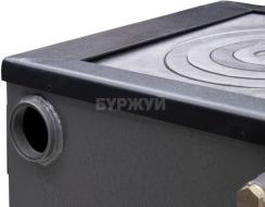 Котел-плита Буржуй КП-12 кВт дымоход назад (4 мм). Фото 10