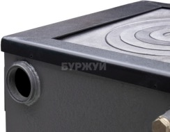 Котел-плита Буржуй КП-12 кВт димохід назад (4 мм). Фото 10