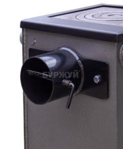 Котел-плита Буржуй КП-12 кВт дымоход назад (4 мм). Фото 14
